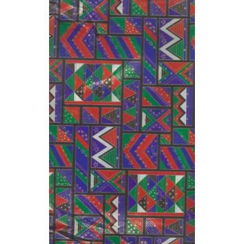 Weihnachts-Geschenkpapier, Großrolle; 50 cm x 250 m; Grafisches Motiv; lila-rot; Geschenkpapier, gestrichen-glatt