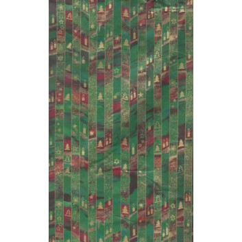 Weihnachts-Geschenkpapier, Großrolle; 50 cm x 250 m; Tannenbäume; grün; Geschenkpapier, gestrichen-glatt