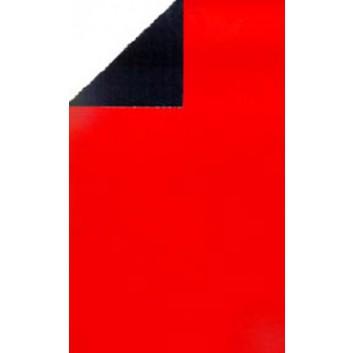 Geschenkpapier; 70 cm x 250 m; bicolor, zweiseitig farbig; rot-schwarz; 80118; Geschenkpapier, glatt; rot: leicht glänzend; schwarz: matt