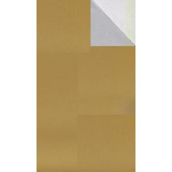 Geschenkpapier; 50 cm x 250 m; bicolor, zweiseitig farbig; gold-silber; 92325; Geschenkpapier, glatt; Secare-Rolle