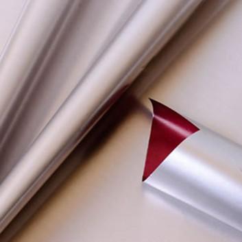 Geschenkpapier; 70 cm x 250 m; bicolor, zweiseitig farbig; platinsilber-burgund; 11145; Geschenkpapier, glatt; Secare-Rolle