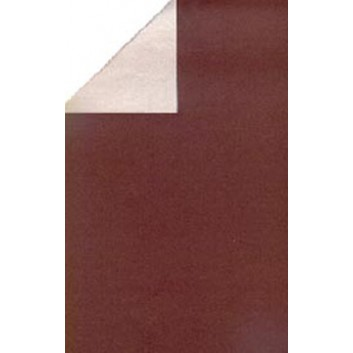 Geschenkpapier; 50 cm x 250 m / 70 cm x 250 m; bicolor, zweiseitig farbig; schoko-macchiato; 92320; Geschenkpapier, glatt; Secare-Rolle