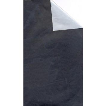 Geschenkpapier; 50 cm x 250 m / 70 cm x 250 m; bicolor, zweiseitig farbig; schwarz-silber; 92323; Geschenkpapier, glatt; Secare-Rolle