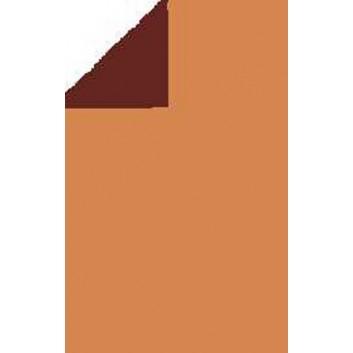 Geschenkpapier; 70 cm x 250 m; bicolor, zweiseitig farbig; kupfer-schoko; 92322; Geschenkpapier, glatt; kupfer: leicht glänzend; schoko:matt