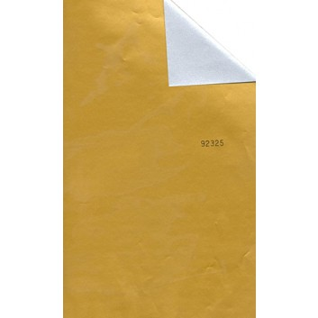 Geschenkpapier; 70 cm x 250 m; bicolor, zweiseitig farbig; gold-silber; 92325; Geschenkpapier, glatt; gold: leicht glänzend; silber: matt