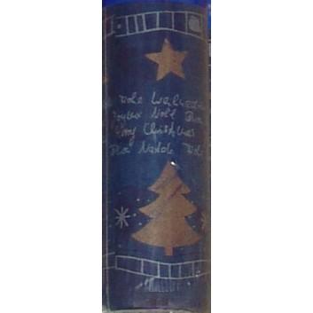 Duni Weihnachts-Tischtuch-Rolle; 120 cm x 10 m; Damascus Blue = dunkelblau; Dunicel (Vlies); Breite x Länge