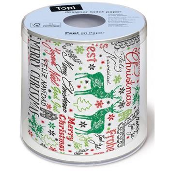 Paper + Design Weihnachts-Design-Klopapier; Cardboard greetings; 00226; 200 Blatt/Rolle; 3-lagig, Zelltuch