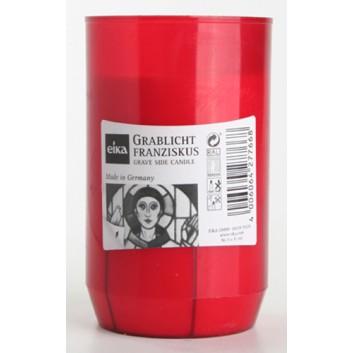 Eika Grablicht ohne Deckel; rot Hülle; 60 x 122 mm; 3-Tage-Brenner; Franziskus #3