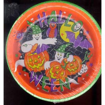 Hosti-Pfiffkuss Pappteller; Ø 23 cm; Halloween; rund