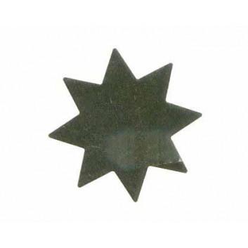 Weihnachts-Rollen-Etiketten; Stern, mittel - 8 Zacken; gold, glänzend; Ø 33 mm; Goldfolie, glänzend; selbstklebend, auf der Rolle