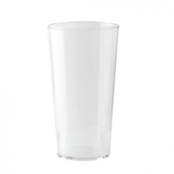 Bierbecher, Mehrweg - 500ml; 500 ml; transparent-milchig; PP; Eichstrich bei 500 ml; ø 80 mm, 163 mm Höhe; stapelbar, unzerbrechlich