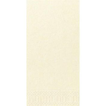 Duni Servietten 3-lagig; 33 x 33 cm; uni; creme = 127383; 3-lagig; 1/8-Falz (länglich) - Buchfalz; Zelltuch; Buchfalz: seitlich geschlossen