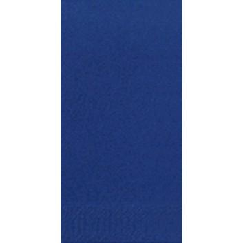 Duni Servietten 3-lagig; 33 x 33 cm; uni; dunkelblau = 211567; 3-lagig; 1/8-Falz (länglich) - Buchfalz; Zelltuch; Buchfalz: seitlich geschlossen