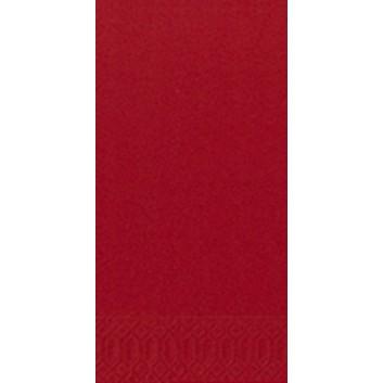 Duni Servietten 3-lagig; 33 x 33 cm; uni; rot = 211116; 3-lagig; 1/8-Falz (länglich) - Buchfalz; Zelltuch; Buchfalz: seitlich geschlossen