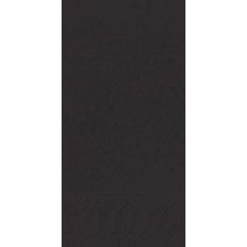 Duni Servietten 3-lagig; 33 x 33 cm; uni; schwarz = 165559; 3-lagig; 1/8-Falz (länglich) - Buchfalz; Zelltuch; Buchfalz: seitlich geschlossen