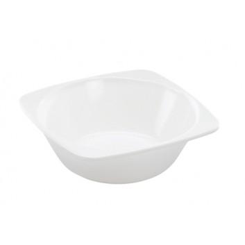 Melamin-Snackschale, Mehrweg; 122 x 122 x 40 mm; weiß; Melamin; Quadratisch; Desserts, Snacks, Salate