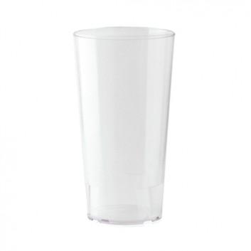 Becher, Mehrweg 300ml; 300 ml; transparent-milchig; PP; Eichstrich bei 300 ml; ø 70 mm, 130 mm Höhe; stapelbar, unzerbrechlich