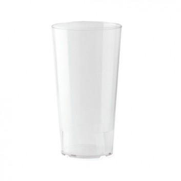 Becher, Mehrweg 250 ml; 250 ml; transparent-milchig; PP; Eichstrich bei 250 ml; ø 65 mm, 123 mm Höhe; stapelbar, unzerbrechlich