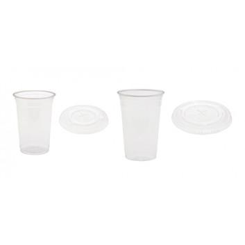 Duni Becher und Deckel rPET; 250 ml / 500 ml; klar; rPET = bis 100% recycelte Altprodukte; 250 ml; 300 ml