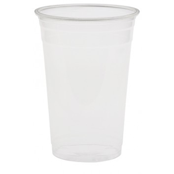 Duni Becher rPET; 500 ml; klar; rPET = bis 100% recycelte Altprodukte; 500 ml; 590 ml; passender Deckel Art: 822250