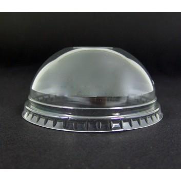 Dom-Deckel für Smoothie-Becher; Deckel f.Smoothie-Becher: #822096/822097; klar; ohne Loch,gewölbt; PET = Polyethylenterephthalat, recycelb.