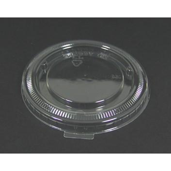 Flach-Deckel für Smoothie-Becher; Deckel f.Smoothie-Becher: #822096/822097; klar; flach, ohne Loch; PET = Polyethylenterephthalat, recycelb.