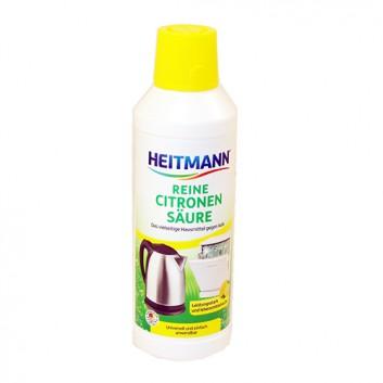 Heitmann Reine Citronensäure Entkalker; für Kaffeemaschinen, Kochtöpfe uvm.; Lebensmittelgerecht; ohne Farbstoffe; 500 ml