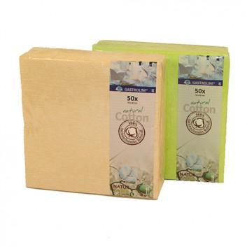 Kögler Servietten; 40 x 40 cm; uni; vielen Farben; 100 % Baumwolle / natural Cotton; 1/4-Falz (quadratisch); Baumwolle