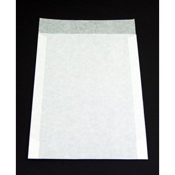 Pergamin-Flachbeutel; 230 x 325 mm; milchig, durchscheinend; Klappe ca 50 mm; säurefrei; 50g; Breite x Höhe; Zweinahtflachbeutel