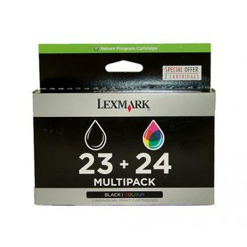 Lexmark Original Tintenpatrone; 18C1419E=#23+24; schwarz+fbg 2er Set; #23= 215 Seiten + #24= 185 Seiten; geeignet für X3530, X3550, X4530, X4550