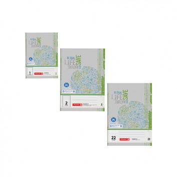 Brunnen Recycling Schulhefte  -Blauer Engel-; verschiedene Lineaturen; DIN A5 / DIN A4; Recyclingpapier grau-grün - Blauer Engel; 16 oder 32 Blatt
