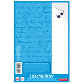 Löschpapierblock; DIN A4; blanko; 80g/qm, holzfrei; 10 Blatt; geleimt; mit Deckblatt; nicht peforiert; ohne Lochung