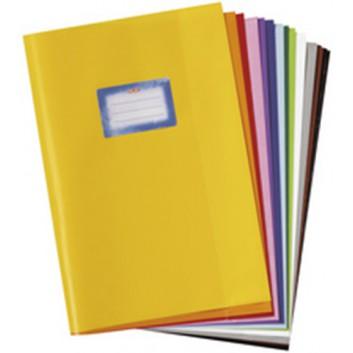 HERMA Heftschoner PP; DIN A4; uni, Baststruktur; braun; 5204086; mit Beschriftungsetikett; aus PP