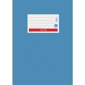 Brunnen Recycling Heftschoner Karton; DIN A4; uni, matt - Blauer Engel; mittelblau; # 34; intensivfarbig, extrastark 250g/m²
