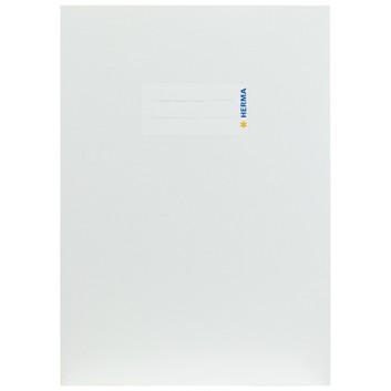 HERMA Heftschoner Karton; DIN A5; uni, leicht glänzend; weiß; 19758; Karton, extrastark; mit Beschriftungsetikett