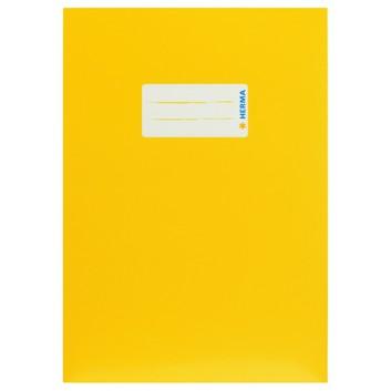 HERMA Heftschoner Karton; DIN A5; uni, leicht glänzend; gelb; 19760; Karton, extrastark; mit Beschriftungsetikett