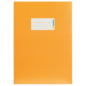 HERMA Heftschoner Karton; DIN A5; uni, leicht glänzend; orange; 19761; Karton, extrastark; mit Beschriftungsetikett
