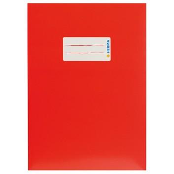HERMA Heftschoner Karton; DIN A5; uni, leicht glänzend; rot; 19762; Karton, extrastark; mit Beschriftungsetikett