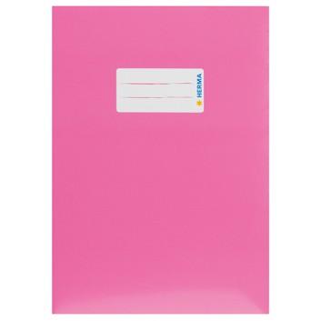 HERMA Heftschoner Karton; DIN A5; uni, leicht glänzend; pink; 19763; Karton, extrastark; mit Beschriftungsetikett
