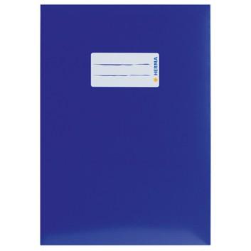 HERMA Heftschoner Karton; DIN A5; uni, leicht glänzend; dunkelblau; 19765; Karton, extrastark; mit Beschriftungsetikett