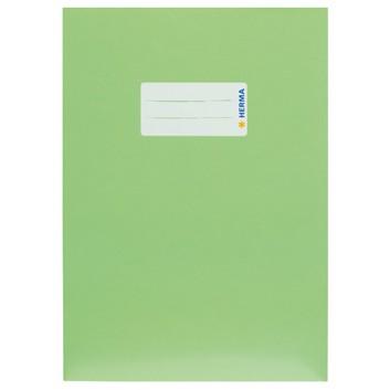 HERMA Heftschoner Karton; DIN A5; uni, leicht glänzend; hellgrün; 19766; Karton, extrastark; mit Beschriftungsetikett