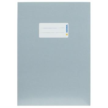 HERMA Heftschoner Karton; DIN A5; uni, leicht glänzend; grau; 19771; Karton, extrastark; mit Beschriftungsetikett