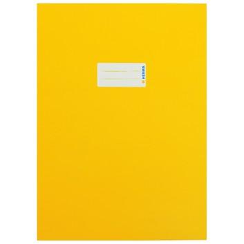HERMA Heftschoner Karton; DIN A4; uni, leicht glänzend; gelb; 19746; Karton, extrastark; mit Beschriftungsetikett