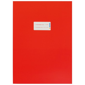 HERMA Heftschoner Karton; DIN A4; uni, leicht glänzend; rot; 19748; Karton, extrastark; mit Beschriftungsetikett