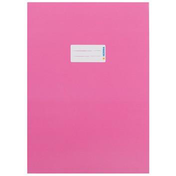 HERMA Heftschoner Karton; DIN A4; uni, leicht glänzend; pink; 19749; Karton, extrastark; mit Beschriftungsetikett