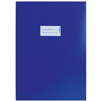 HERMA Heftschoner Karton; DIN A4; uni, leicht glänzend; dunkelblau; 19751; Karton, extrastark; mit Beschriftungsetikett