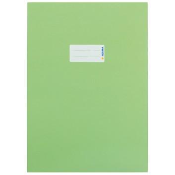 HERMA Heftschoner Karton; DIN A4; uni, leicht glänzend; hellgrün; 19752; Karton, extrastark; mit Beschriftungsetikett