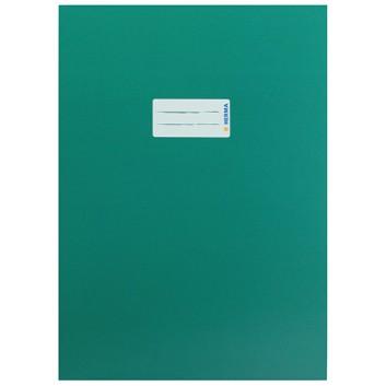HERMA Heftschoner Karton; DIN A4; uni, leicht glänzend; dunkelgrün; 19753; Karton, extrastark; mit Beschriftungsetikett