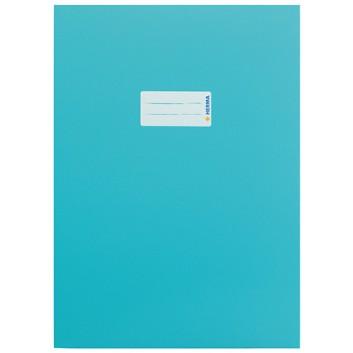HERMA Heftschoner Karton; DIN A4; uni, leicht glänzend; türkis; 19755; Karton, extrastark; mit Beschriftungsetikett