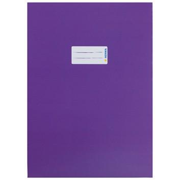 HERMA Heftschoner Karton; DIN A4; uni, leicht glänzend; violett; 19756; Karton, extrastark; mit Beschriftungsetikett